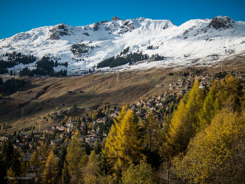 snow above Verbier