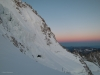 Dawn across the face of the Chardonnet