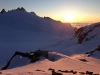 Sunset at the Trient Hut