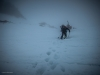 Climbing to the col du Mont Brule