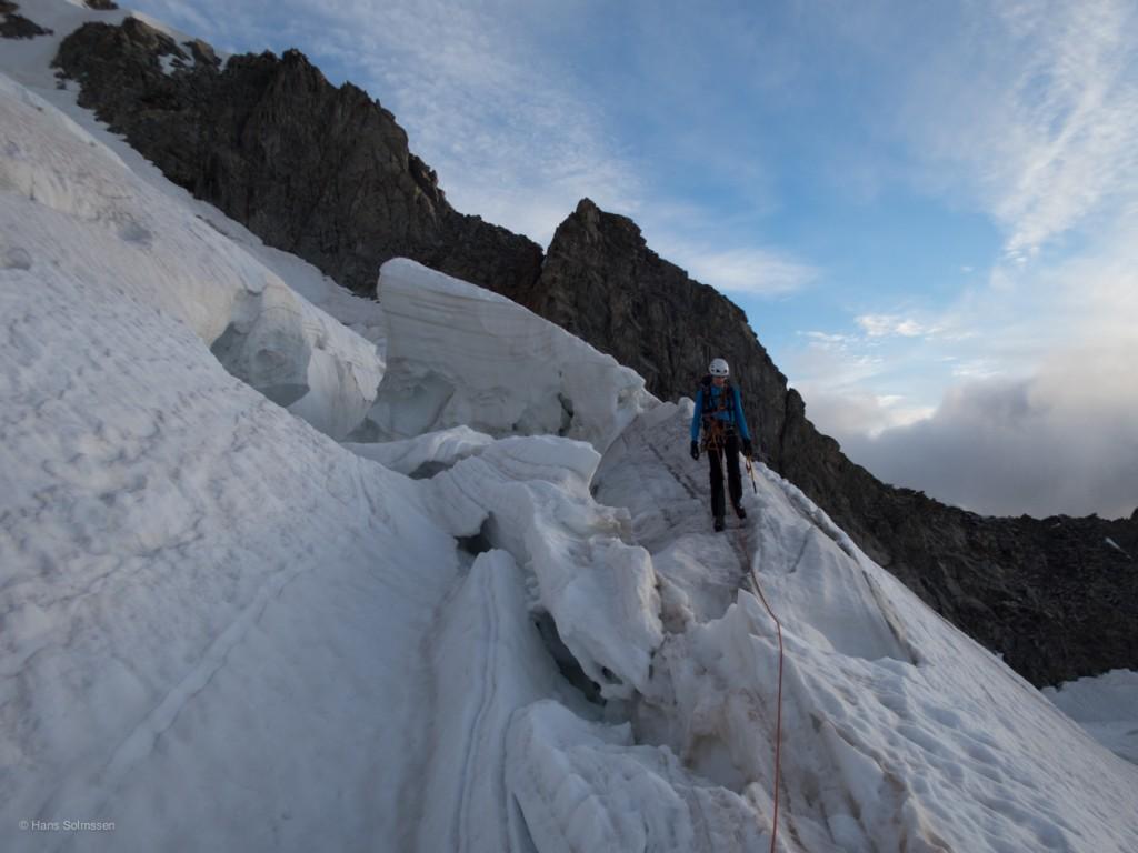 The convoluted Dolent Glacier