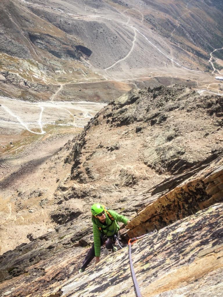 Fi climbing on the Jagihorn